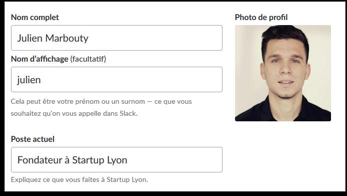 Profil Membre Communauté Startup Lyon
