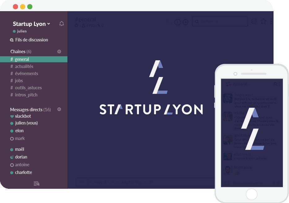 Réseau Slack Startup Lyon